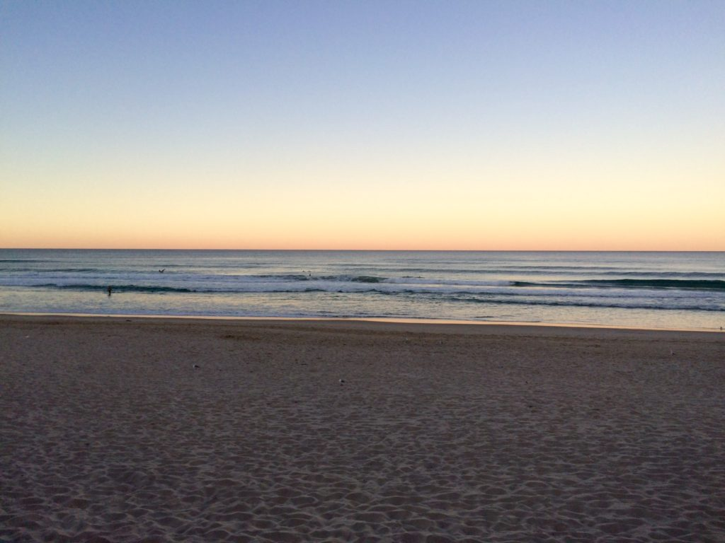 Ah the beach and sunset combined into one calming image! Surfers Paradise, Qld.