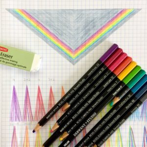 Almost a Granny Rainbow Triangle Scarf drawing