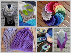 Various crochet items.